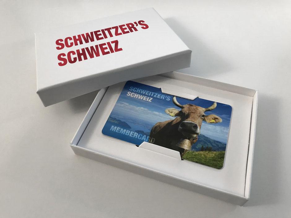 Membercard mit hochwertiger Stulpdeckelschachtel, individuell bedruckbar