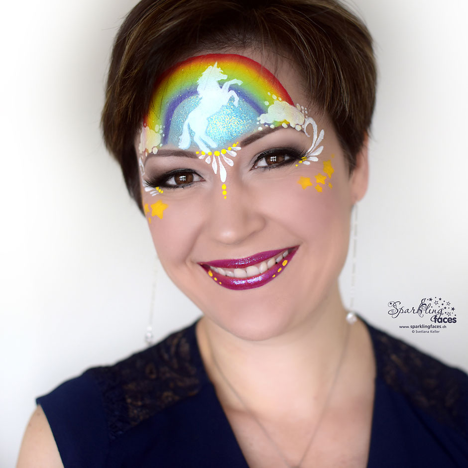 Kinderschminken_Vorlagen; Schminkfarben_kaufen_Schweiz; Kinderschminken_Kurse; einfach; Regenbogen