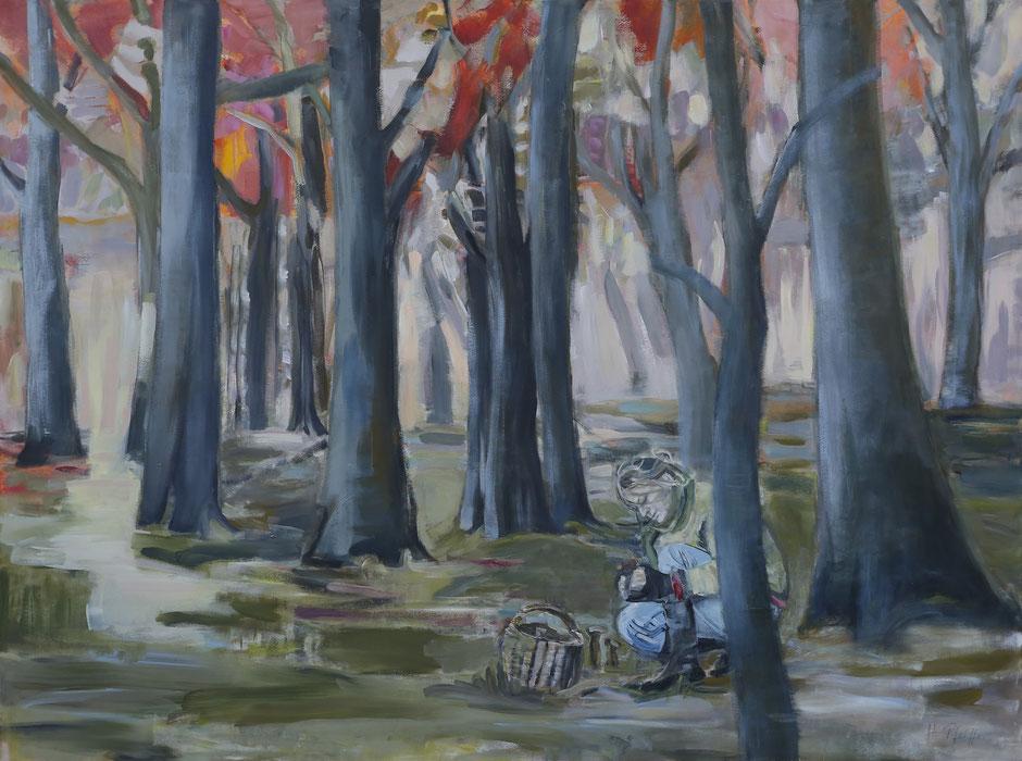 Frau im Wald 240 x 180