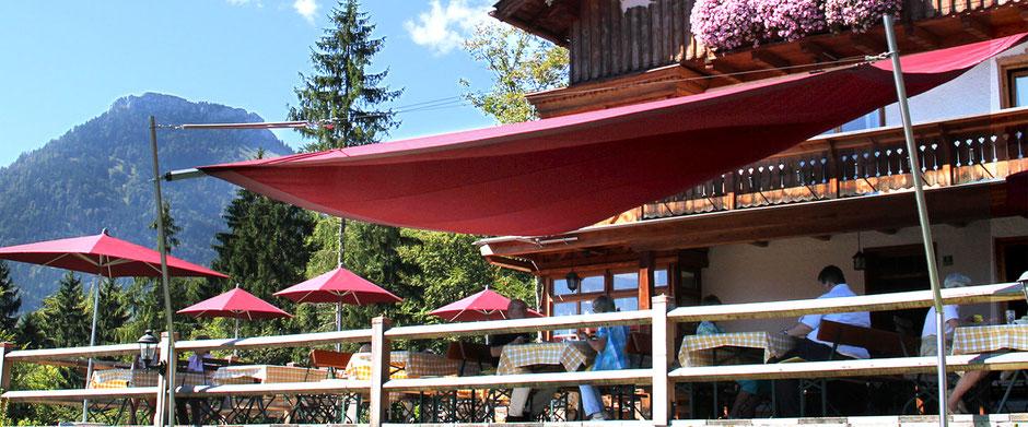 Gasthof in Oberaudorf auf 660 Meter die Hummelei