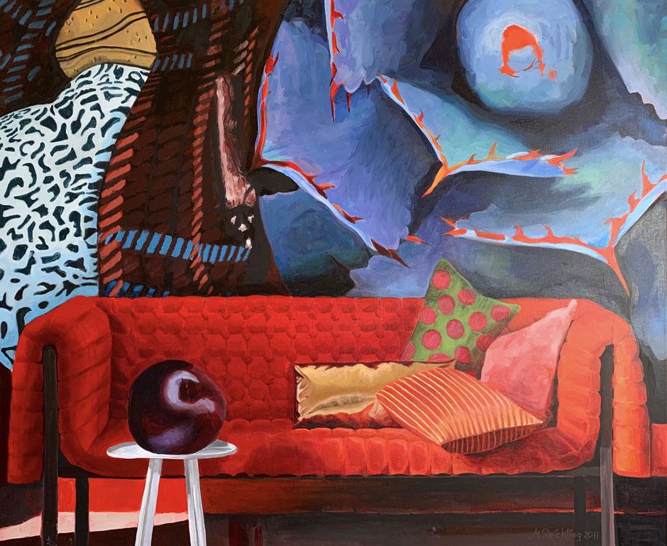 120 x 90 cm - Acryl auf Leinwand