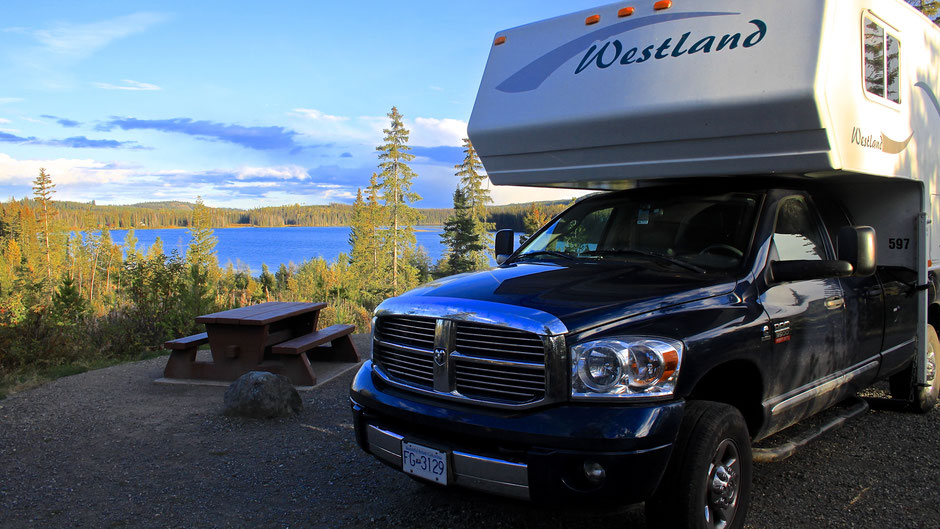 Campground Lac le jeune, BC, Kanada