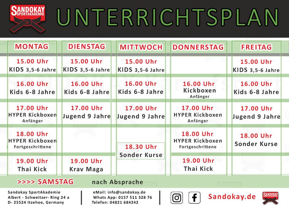 Kurse-Übersicht Kampfsportschule - Kampfkunst Itzehoe