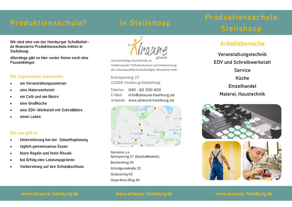 Produktionsschule im Quartier, Steilshoop, Charitymarket.de