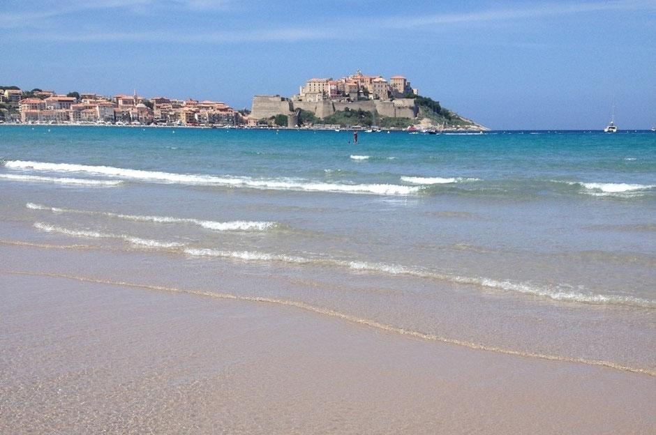 Korsika Calvi Strand Meer
