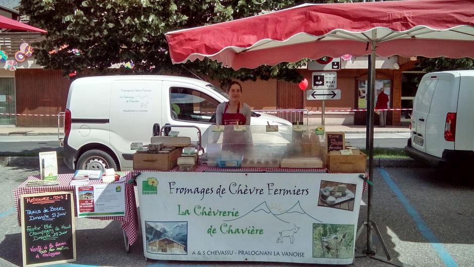chaviere fromages chèvre marché bozel