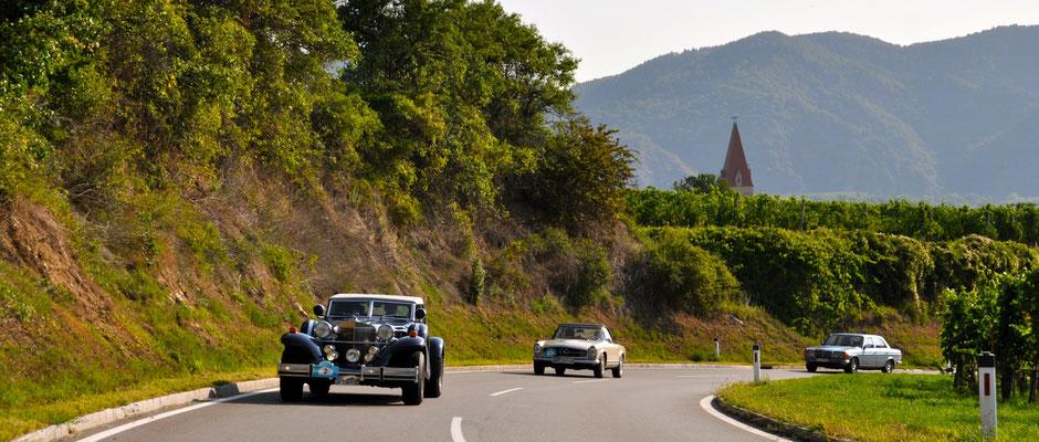 Wachau an der Donau mit den klassischen Autos erkunden