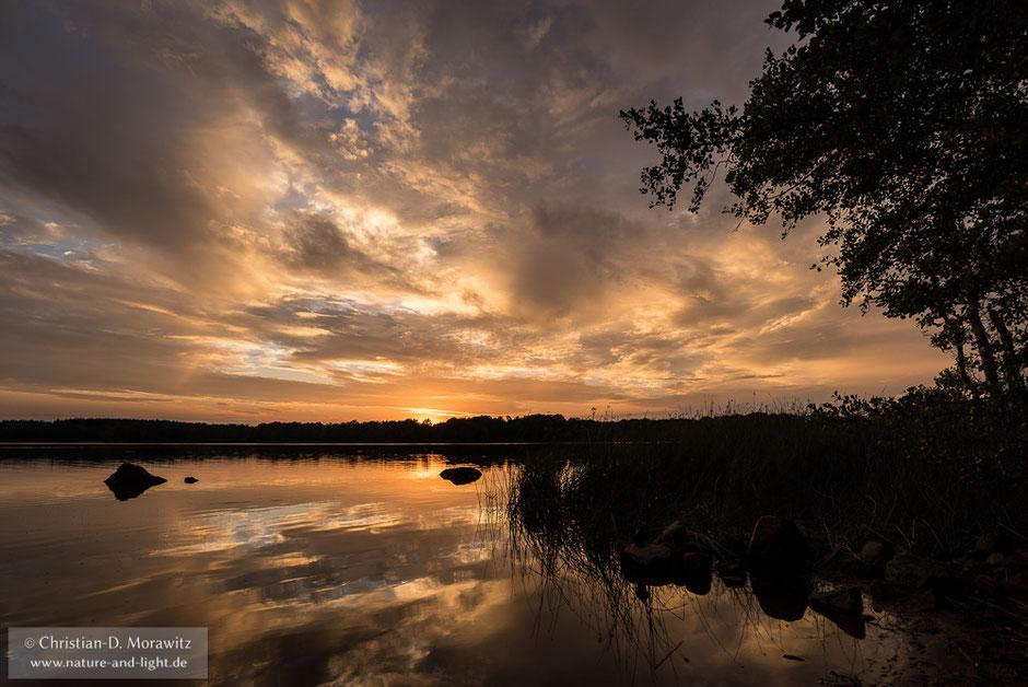 Sonnenuntergang am Bosarpasjön