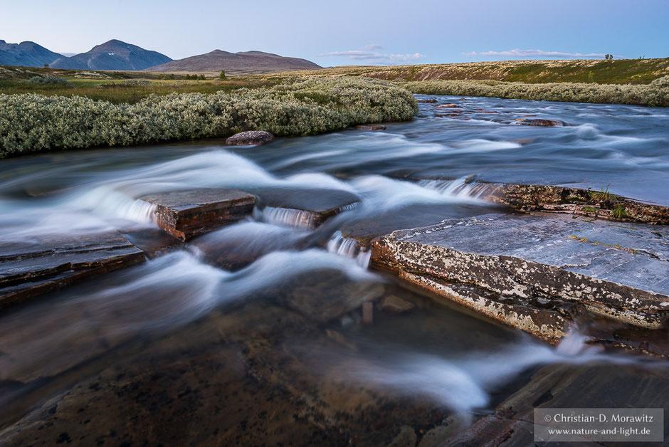 Abends an einem Bach im Rondane Nationalpark