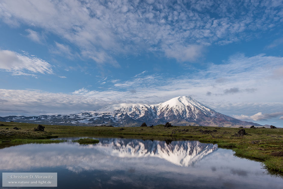 Der Tolbatschik Vulkan im Morgenlicht