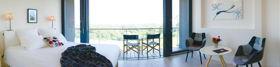 Chambre d'hôte avec vue magnifique sur la vallée en location à la Villa Lascaux