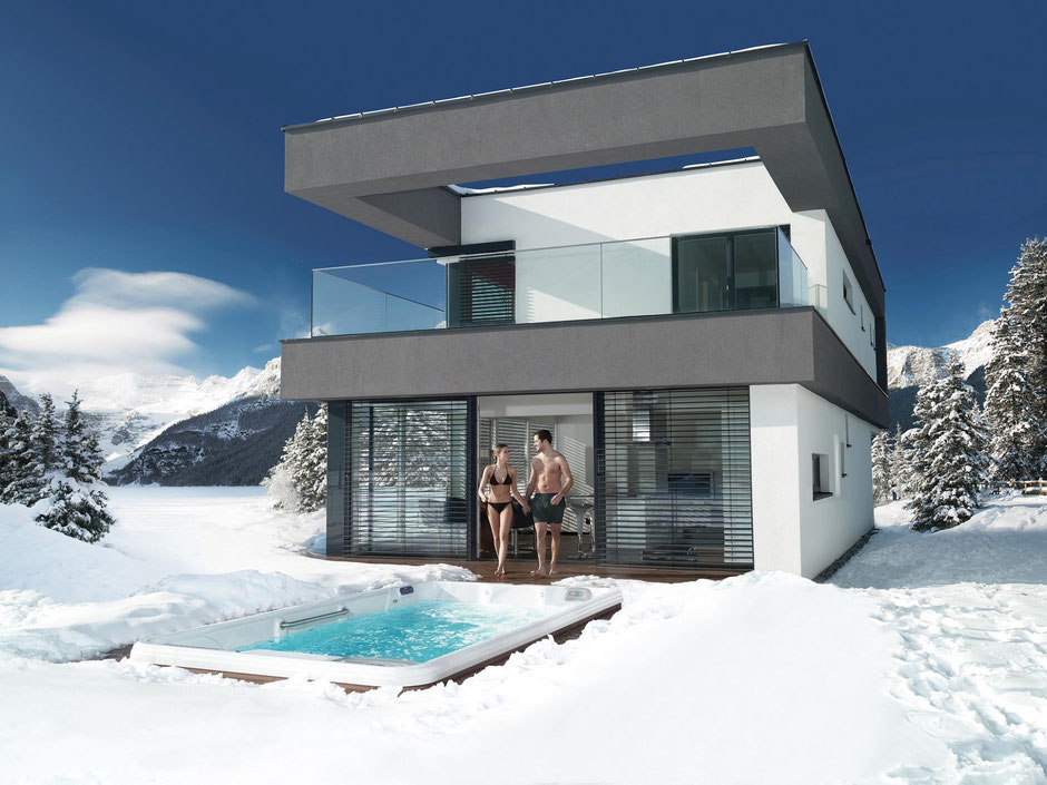 Outdoor Whirlpools & Swim Spas gebaut für kalte Winter