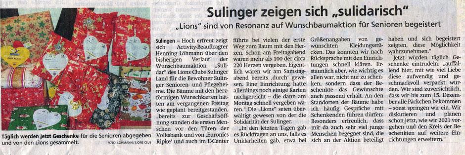 Sulinger Kreiszeitung, 4.12.2020