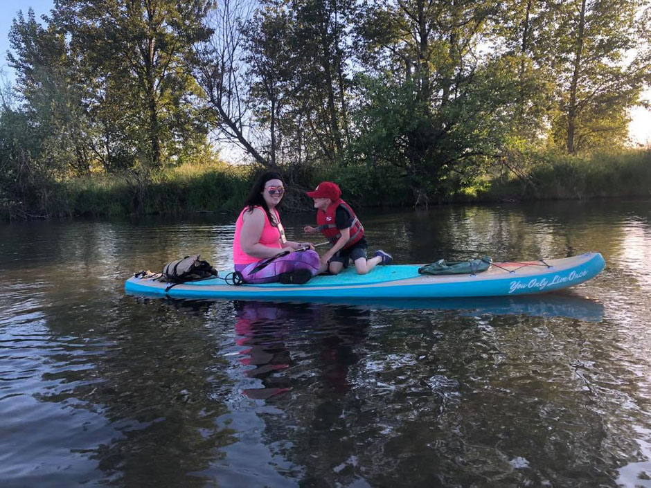 SUP2UOregon SUP Happy Customers! SUP Paddleboarding Paddles Eugene Oregon Kayak Watersports