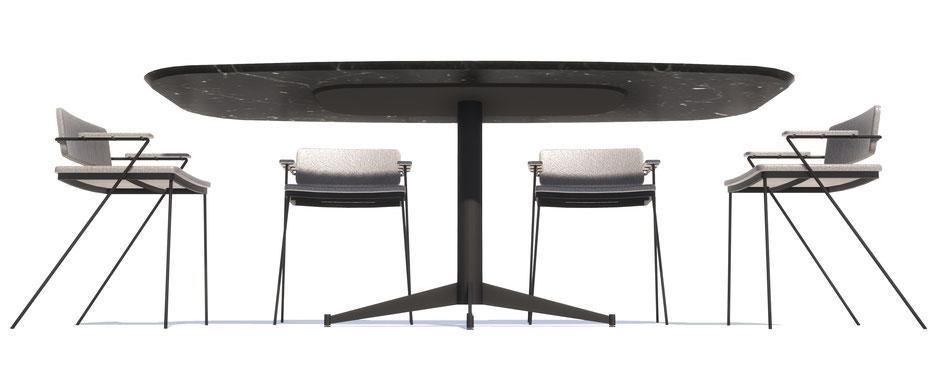 table en marbre, meuble sur-mesure, ameublement, nice, designer nice, table sur-mesure, architecte nice, architecte, table, marbre, marbre noir, marbre blanc, marbre vert, table à manger en marbre, table à manger design nice
