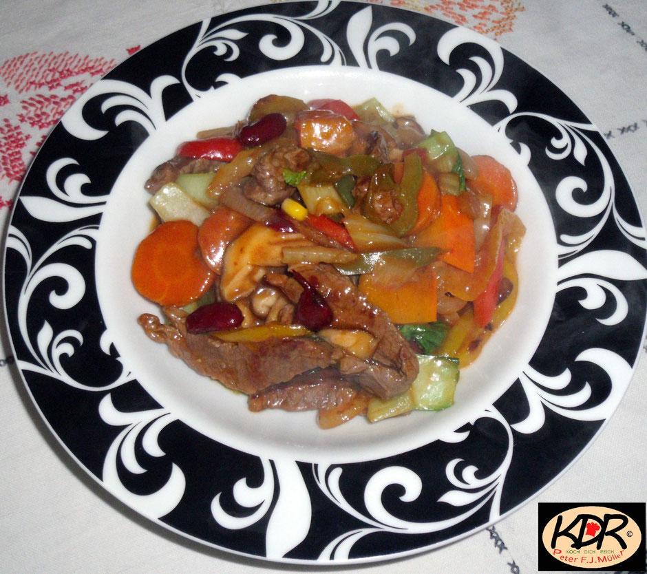 Rindfleisch mit Gemüsen