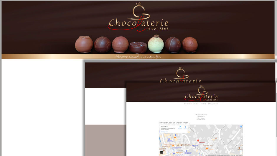 Web Design, www.chocolaterie-sixt.de