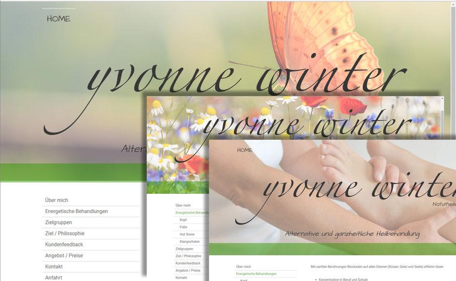 Web Design / Web Design, www.yvonne-winter-natur.de