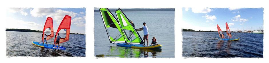 Tandem Windsurfen XXL SUP JP, Neilpryde Fly, WIndsurfen in Rerik an der Ostsee
