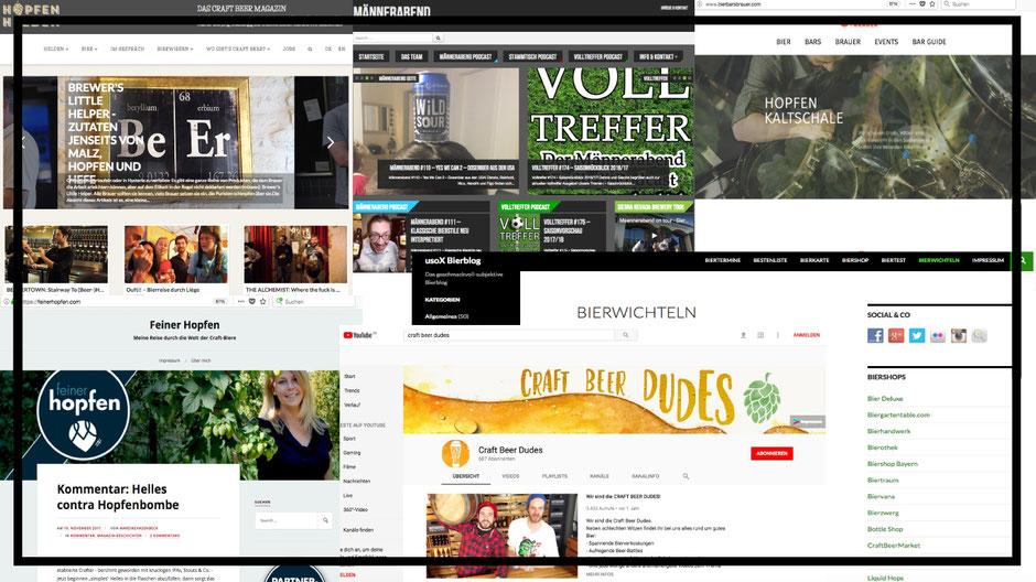 Craft Bier Webseiten