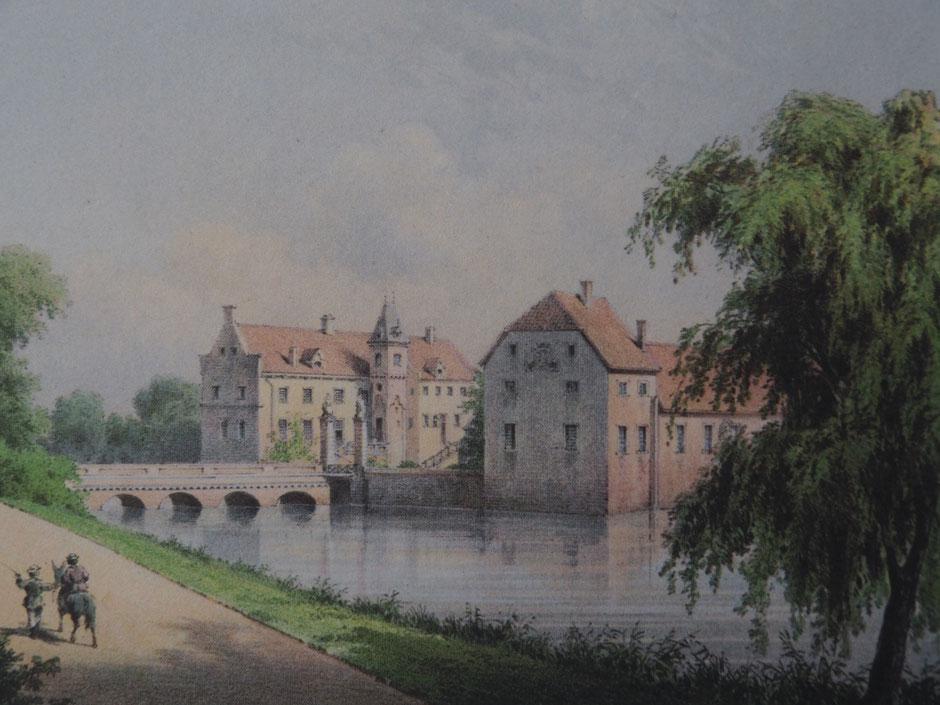 Schloss Senden um 1860