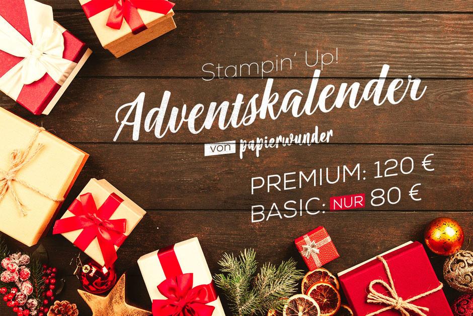 Stampin Up Adventskalender 2019 gefüllt mit Stampin Up Produkten 24 Türchen Geschenke Weihnachten