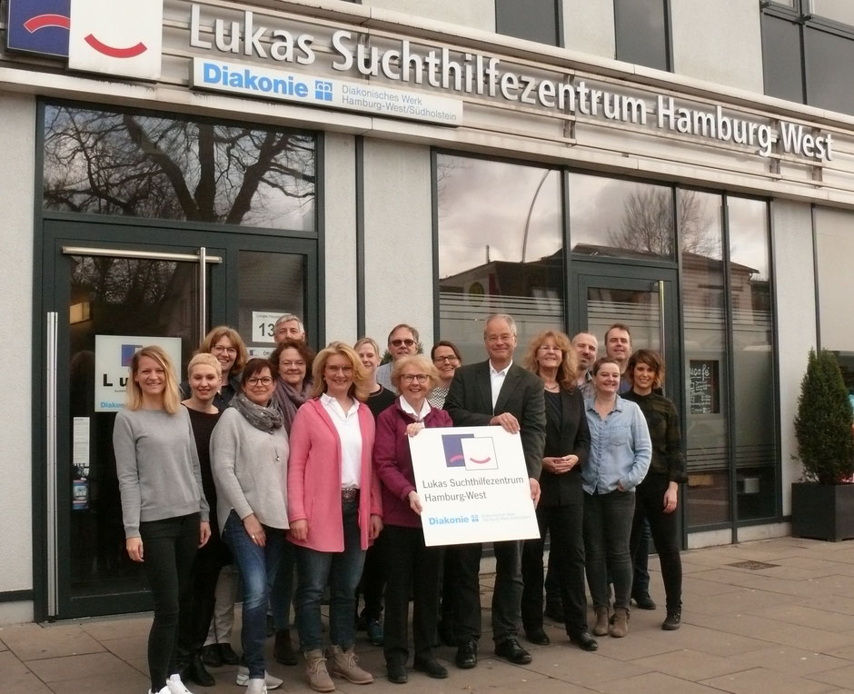 Team des Lukas Suchthilfezentrum Hamburg-West