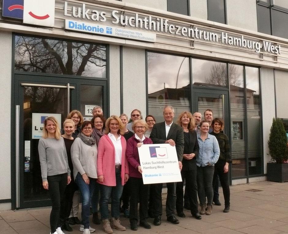 Team des Lukas Suchthilfezentrum Hamburg-West