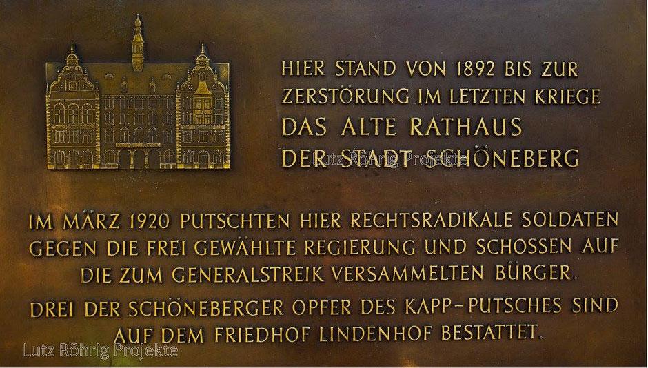 Gedenktafel Rathaus Schöneberg