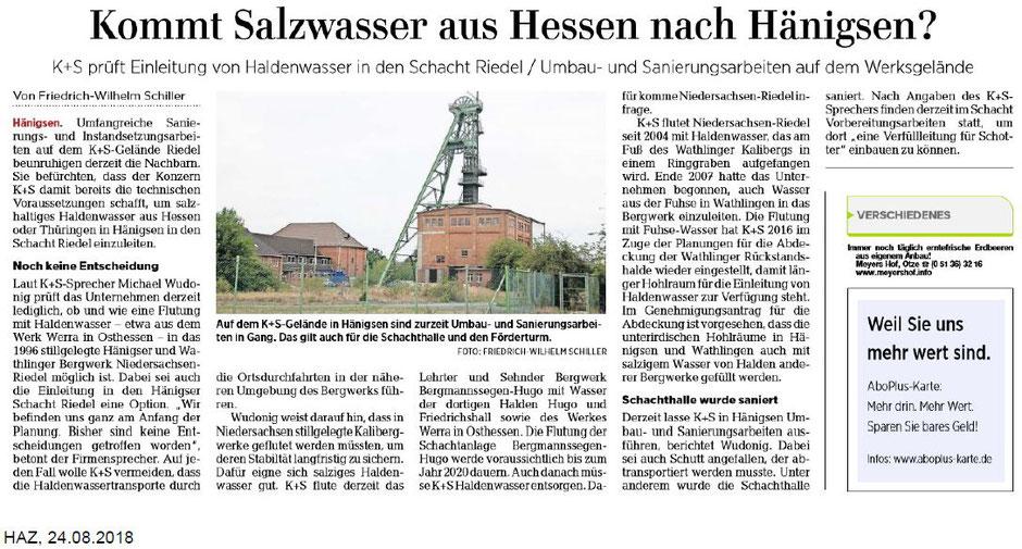 Quelle: Hannoversche Allgemeine Zeitung, 24.08.2018
