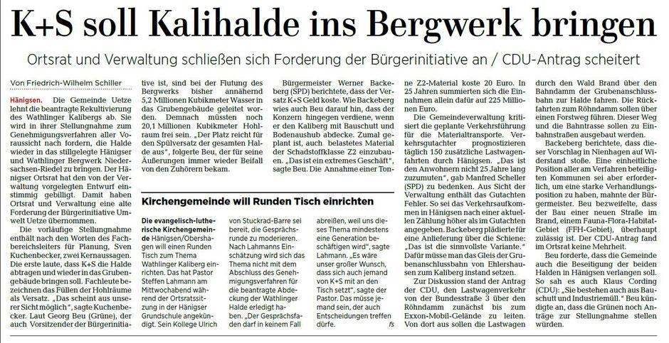 Quelle: Hannoversche Allgemeine Zeitung, 16.02.2018