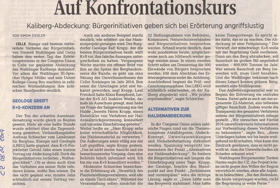 Quelle: Cellesche Zeitung, 08.01.2019