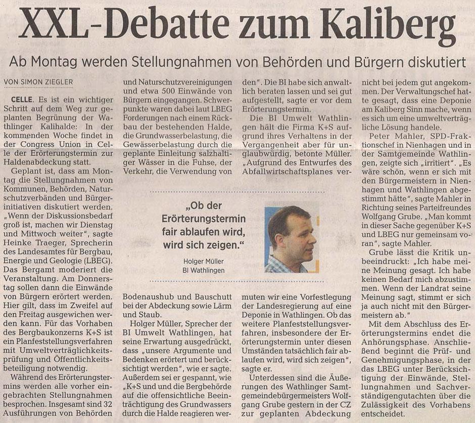 Quelle: Cellesche Zeitung, 05.01.2019