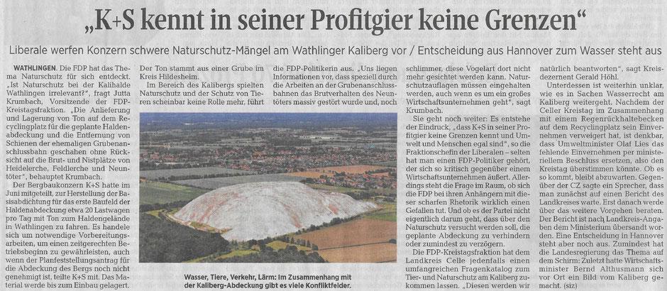 Quelle: Cellesche Zeitung, 18.07.2020