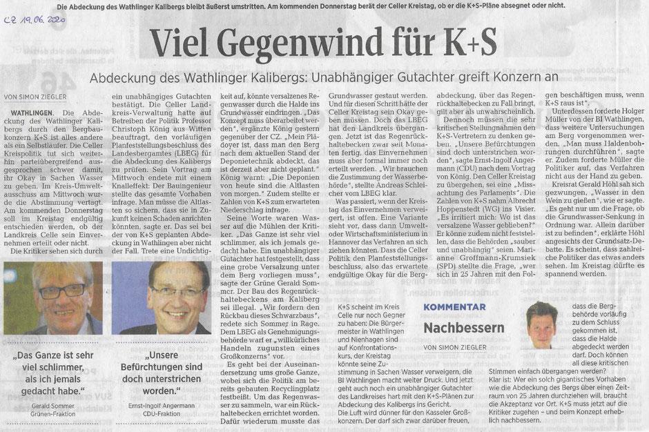 Quelle: Cellesche Zeitung, 19.06.2020