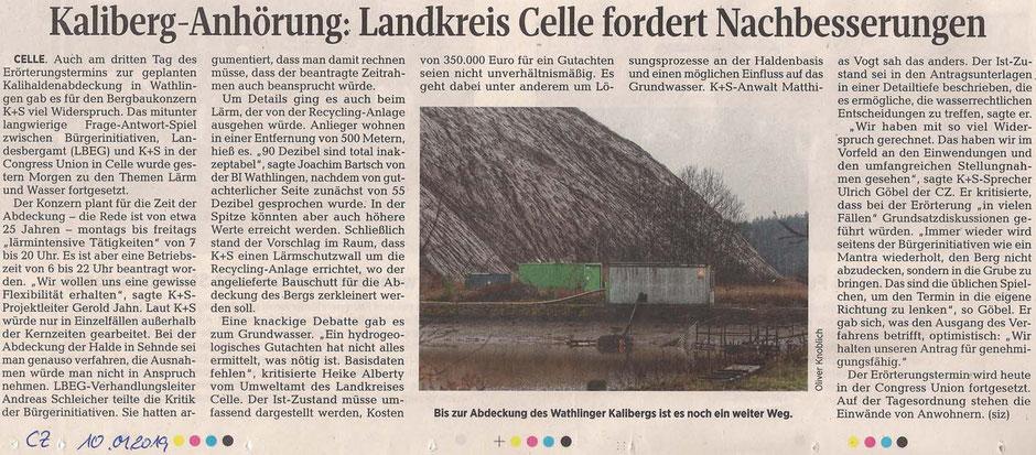 Quelle: Cellesche Zeitung, 10.01.2019