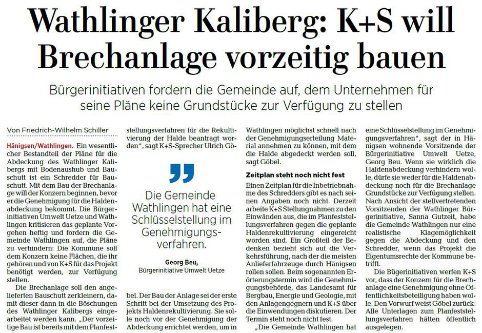 Quelle: Hannoversche Allgemeine Zeitung, 25.10.2018