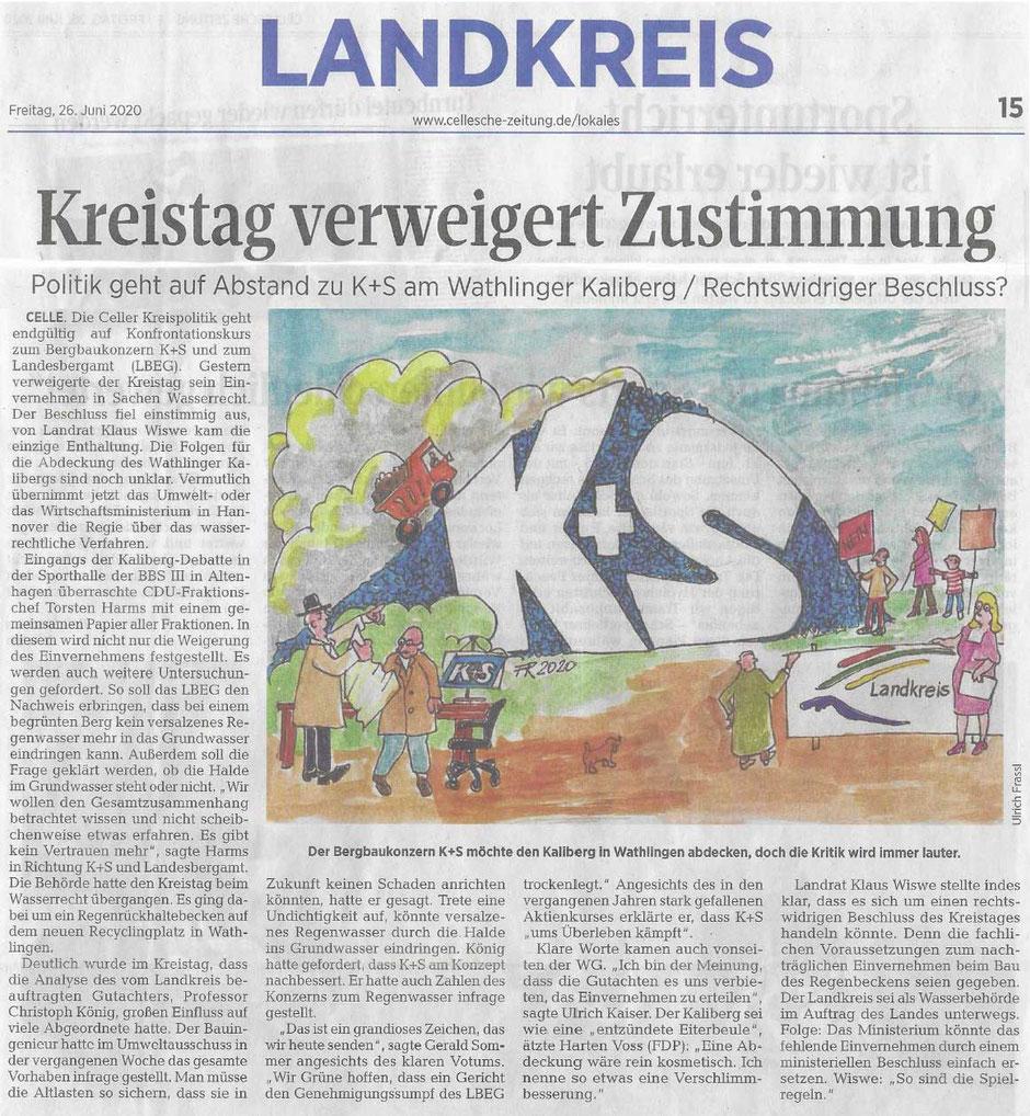 Quelle: Cellesche Zeitung, 26.06.2020