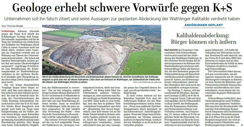 Quelle: Hannoversche Allgemeine Zeitung, 05.01.2019