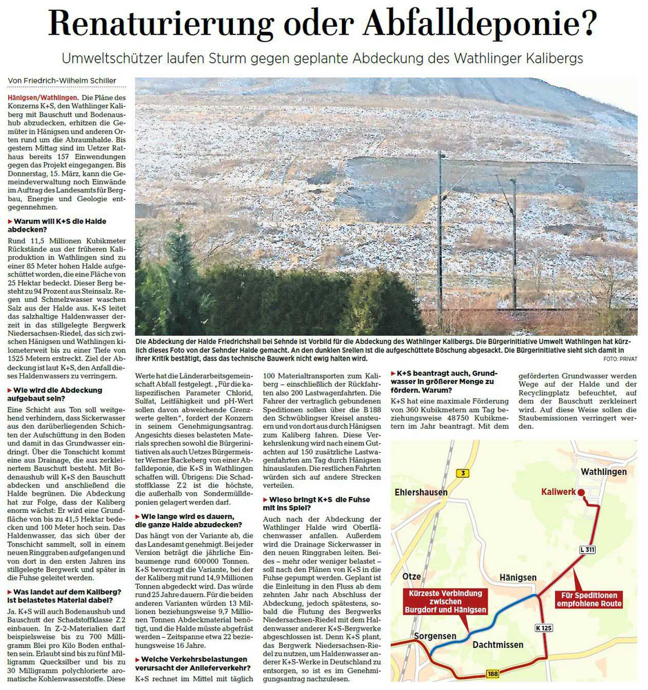 Quelle: Hannoversche Allgemeine Zeitung, 20.02.2018