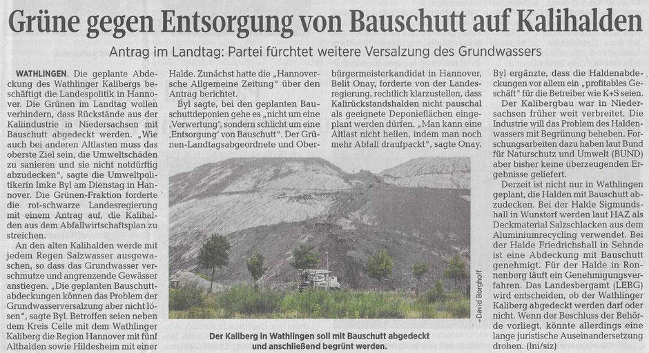 Quelle: Cellesche Zeitung, 02.10.2019