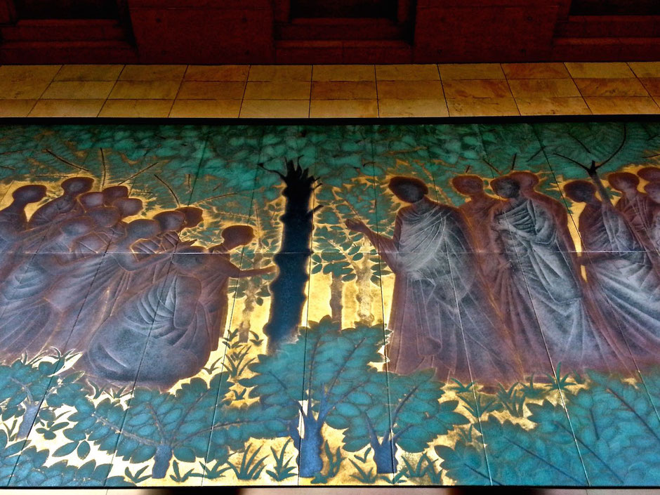 平山郁夫画伯の陶板画「祇園精舎」