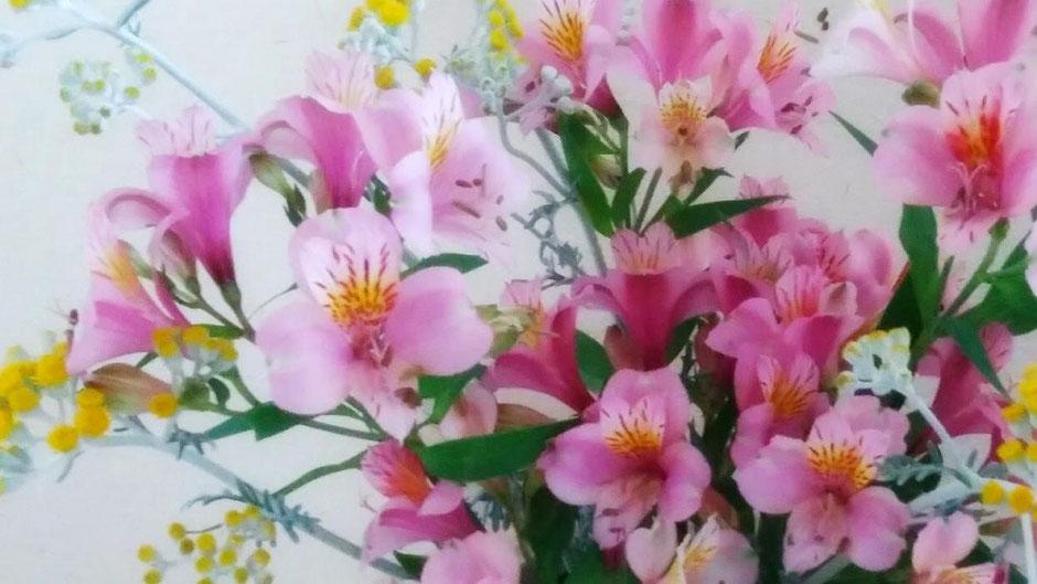 ご近所さんから頂いた花