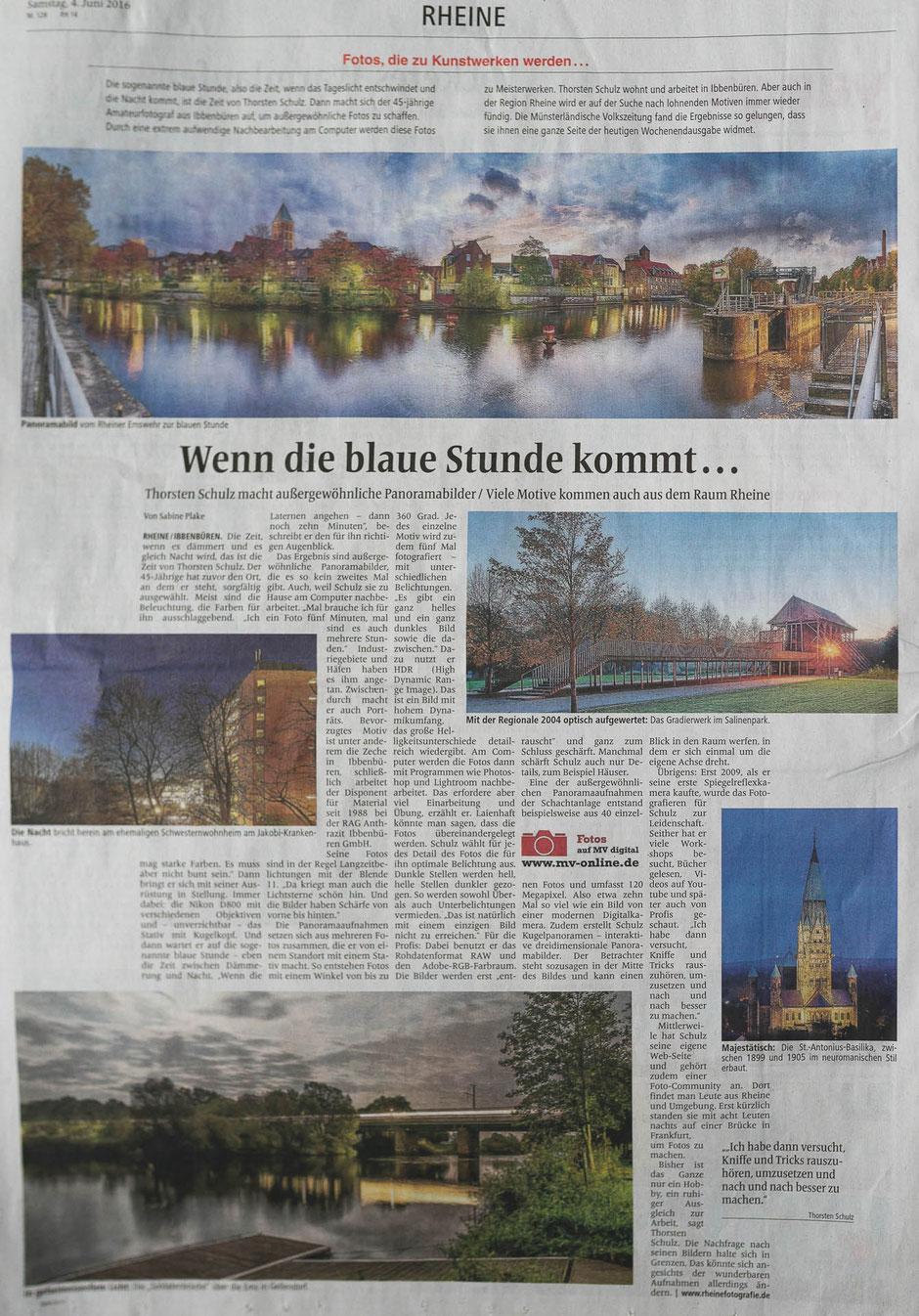 Münsterländische Volkszeitung, Ausgabe vom 04.06.2016