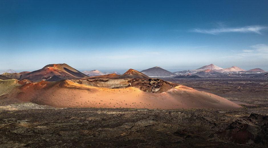 Caldera del Corazoncillo Kraterauf der Insel Lanzarote in Spanien