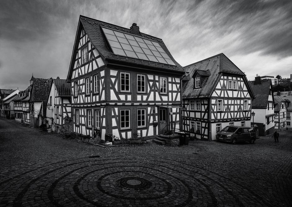 Fachwerkhäuser in Idstein, Taunus, Deutschland