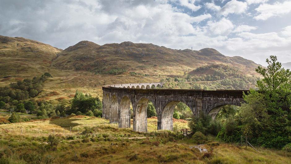 Glenfinnan Viadukt, Highlands, Schottland, Viadukt, Harry Potter, Architektur, Brücken, Viadukte