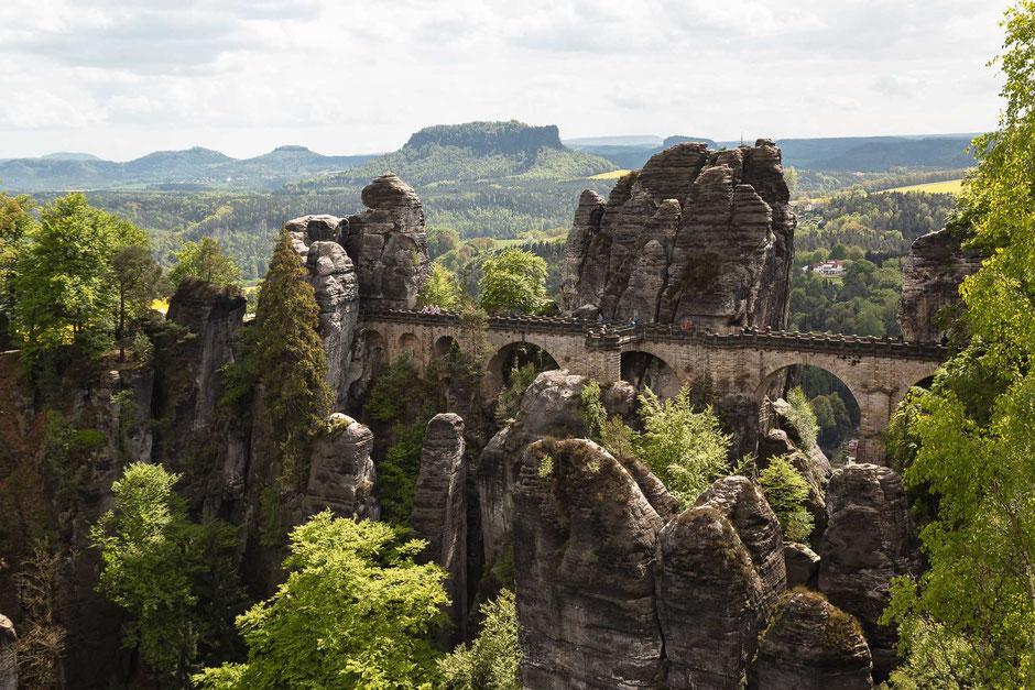 Basteibrücke, Lohmen, Sachsen, Deutschland, Architektur, Brücken