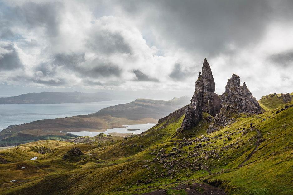 Old Man of Storr Landschaft auf der Isle of Skye in Schottland, Landschaftsfotografie, Landschaft
