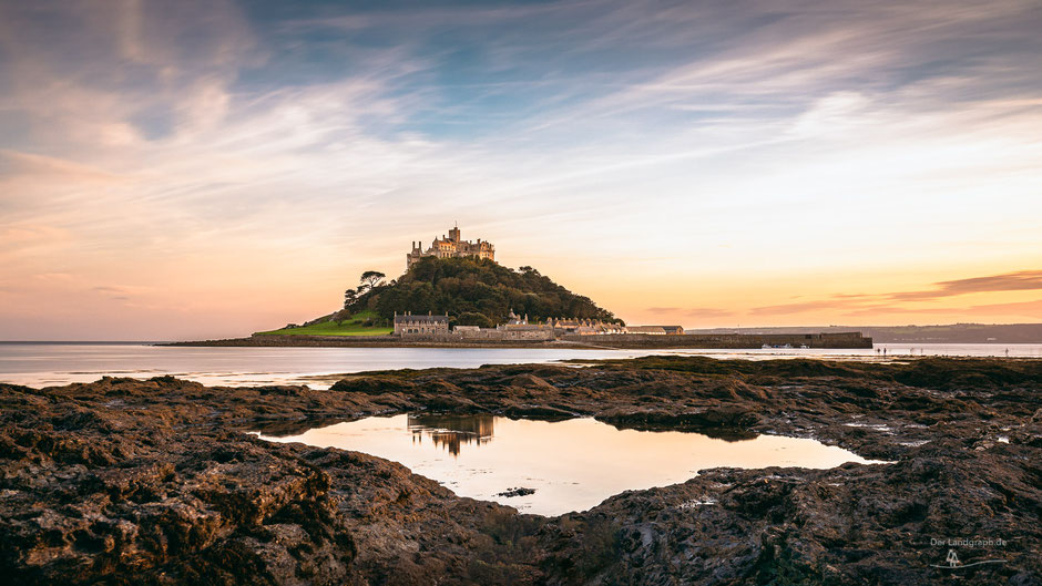 St Michaels Mount, Cornwall, England, Landschaftsfotografie, Landschaftsfotografie, Landschaft
